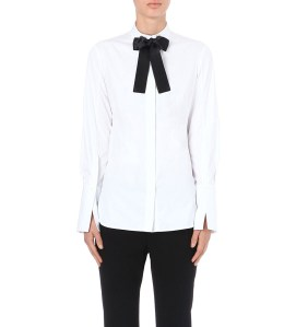 ALEXANDER MCQUEEN Bow-tie cotton shirt: $845.00