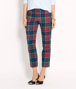 Holiday Tartan Cocktail Ankle Pants: $148.00