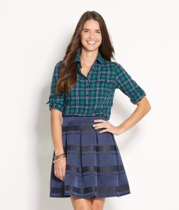 Yuletide Plaid Flannel Popover : $98.00
