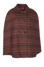 Boohoo.com: Dora Aztec Wool Look Cape: $44.00